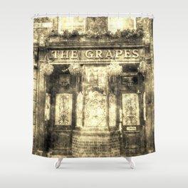 The Grapes Pub London Vintage Shower Curtain