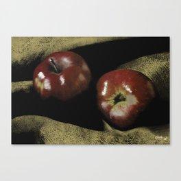 Apples on Burlap Canvas Print