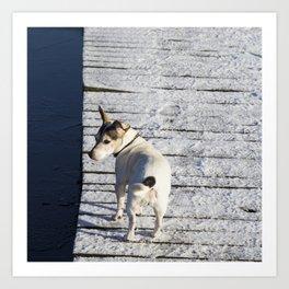 Dog going home Art Print