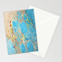 Abstract Organic Water Marbling Stationery Cards