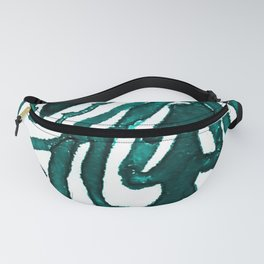 Turquoise Henna Watercolor Fanny Pack