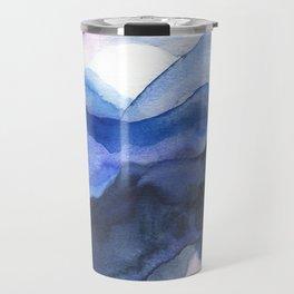 Mountain Abstract Watercolor Travel Mug
