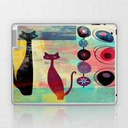 Mid-Century Modern 2 Cats - Graffiti Style Laptop & iPad Skin