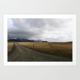 Amazing Landscape in Iceland Art Print
