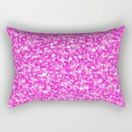 Hot Pink Glitter Texture Print Rectangular Pillow