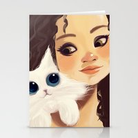 sister Stationery Cards featuring Sister by cennet kapkac