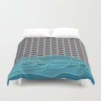 koi Duvet Covers featuring Koi by John Tibbott