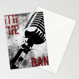 Rock n' Roll Microphone Stationery Cards