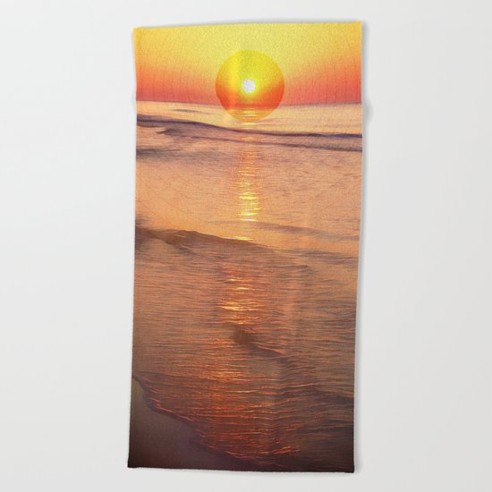 Sunrise Over Ocean Beach Towel
