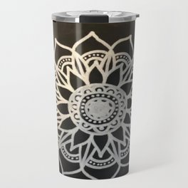 Black Fade Mandala Travel Mug