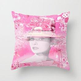 Happy Girl Throw Pillow