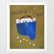 My Blue Piano Art Print