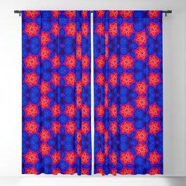 Dark Blue Pattern Abstract Art Seamless Geometry Blackout Curtain