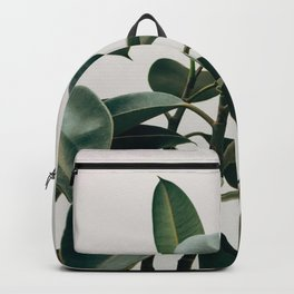 Minimalist Mid Century Modern House Plant Green Leaves Backpack