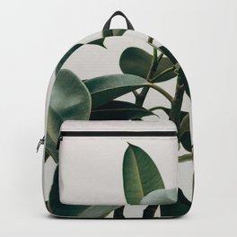 Minimalist Mid Century Modern House Plant Green Leaves Backpack
