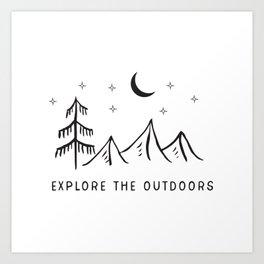 Explore The Outdooors Art Print