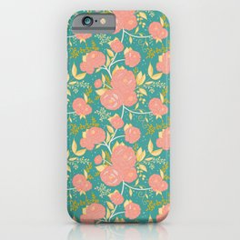 Spring Peony's//Historically Inspired, Modern Historical Design, Modern Floral iPhone Case