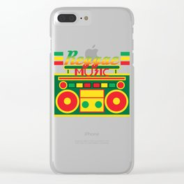 Fan of Reggae Music? Wear it anytime you want with this awesome colorful and creative tee design! Clear iPhone Case