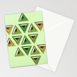 Earth Tones Gradient Trillion Gemstones Stationery Cards