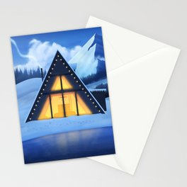 Just a Cabin in the Snow Stationery Cards