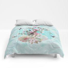FLORAL HUMMINGBIRD Comforters