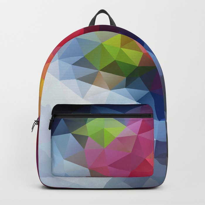 7109ef18720c Low Poly Art Colourful Backpack by veronikalimonov