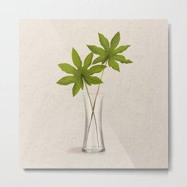 Aralia Leaves Metal Print