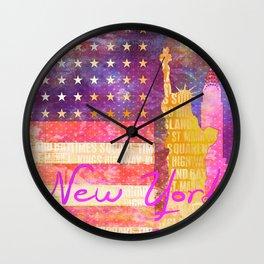 New York USA Statue of Liberty Wall Clock