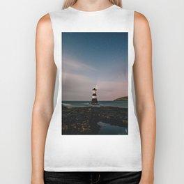Evening Lighthouse Biker Tank