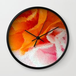 Pink and orange Wall Clock