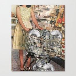 (Disco)unt Supermarket Canvas Print