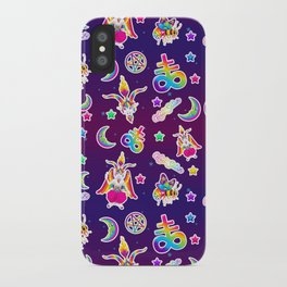 1997 Neon Rainbow Occult Sticker Collection iPhone Case