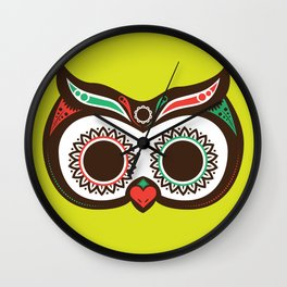 Day 0f the Dead Owl Wall Clock