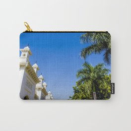 Blue Skies and Palm Trees Lining the Pathway at Chowmahalla Palace Carry-All Pouch