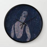 yoga Wall Clocks featuring yoga by Maybe Mary