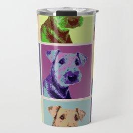 Airedale Terrier Pop Art Grid Travel Mug