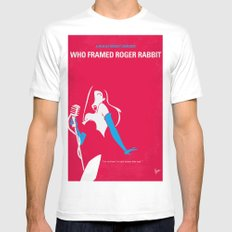 No271 My ROGER RABBIT minimal movie poster White Mens Fitted Tee MEDIUM