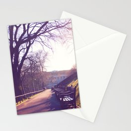 Edinburgh Princes Garden Sunset. Stationery Cards
