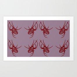 Candy Garden Spider Art Print