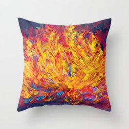 Fire and Passion - Here's to New Beginnings Throw Pillow