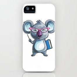 Koala Teacher Kids Pre-School Elementary iPhone Case