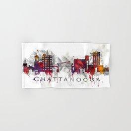 Chattanooga, TN watercolor Hand & Bath Towel