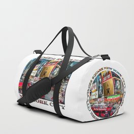 Times Square II (widescreen poster on white) Duffle Bag
