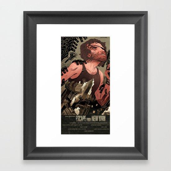 Escape From New York Poster Framed Art Print