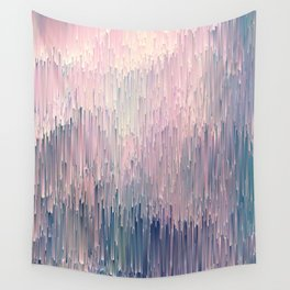 Blush Glitches Wall Tapestry