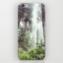 Dreamy Forest Fog Portrait iPhone Skin