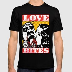 Love Bites Black MEDIUM Mens Fitted Tee