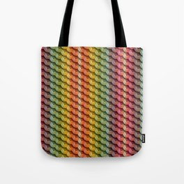 Wooden Asanoha Colorful Tote Bag