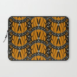Monarch Butterfly Wings Abstract Patterned Print Laptop Sleeve