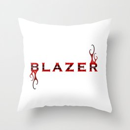 Blazer Logo Graphic Throw Pillow